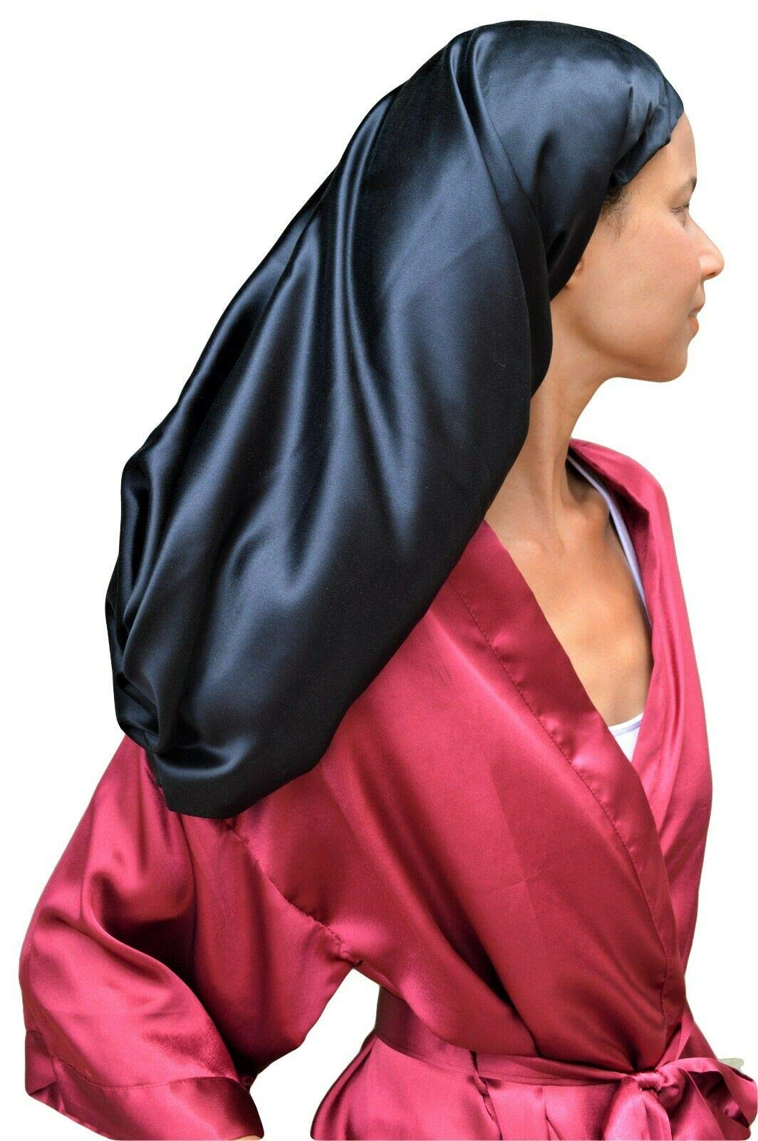 Sleep Tight Hair Wrap 100% Mulberry Silk Satin 40 momme 25'' XLong Luxury Sleep Cap for Natural Hair (XLong) (XLong) by Sleep Tight Wrap