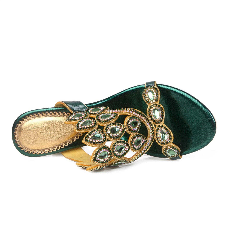 Damenschuhe Glitter Sandalen Sommer Komfort Sandalen Glitter Strass für Casual Hausschuhe & Flip-Flops Kleid Party & Abend A 225fff