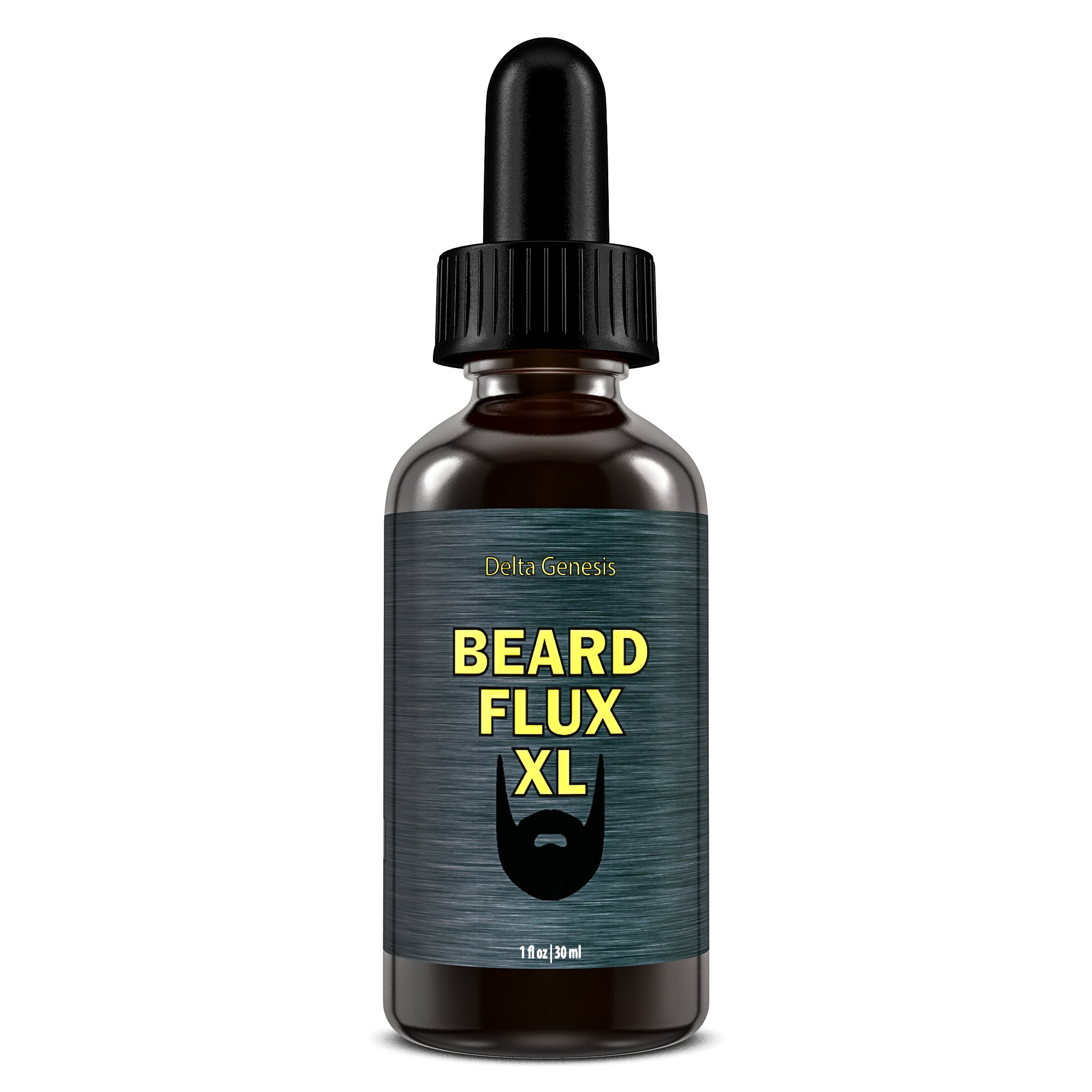 Beard Flux XL | Caffeine Beard Growth Stimulating Oil for Facial Hair Grow | Fuel Healthy Growth | Fragrance Free Beard Oil