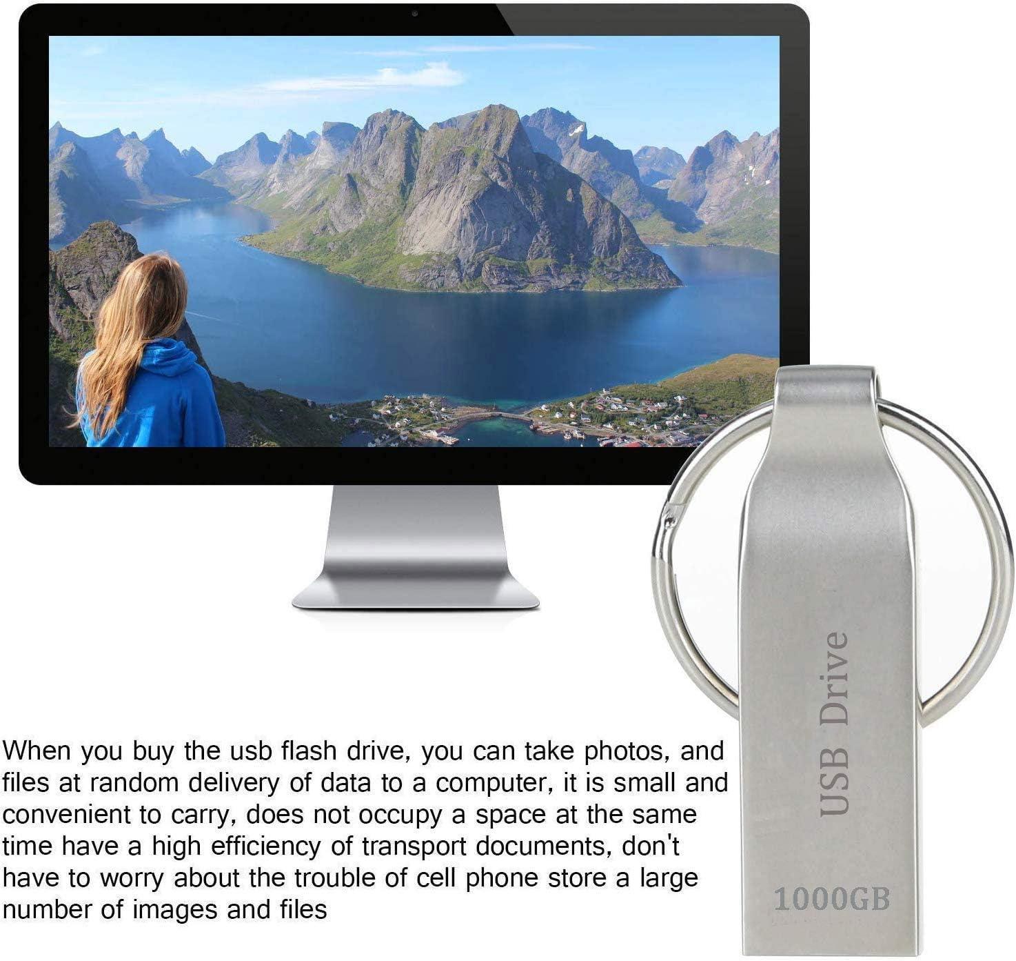 Erasky Flash Drive 1TB USB Flash Drive USB 3.0 Waterproof USB Drive Thumb Drives Memory Stick with Keychain USB Stick for Storage and Backup 1000gb