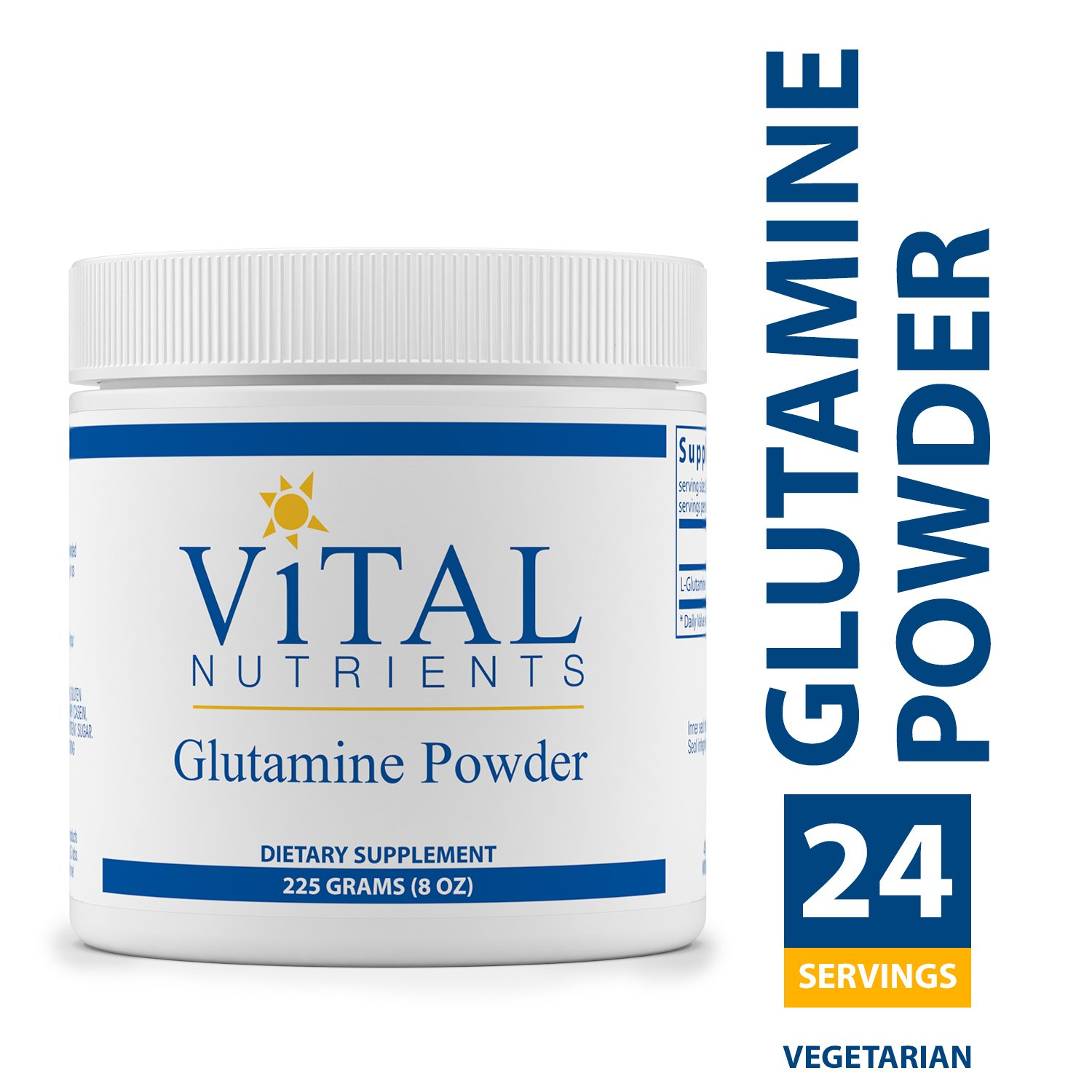 Vital Nutrients – Glutamine Powder – Gastrointestinal and Immune Support – Vegetarian – 225 Grams