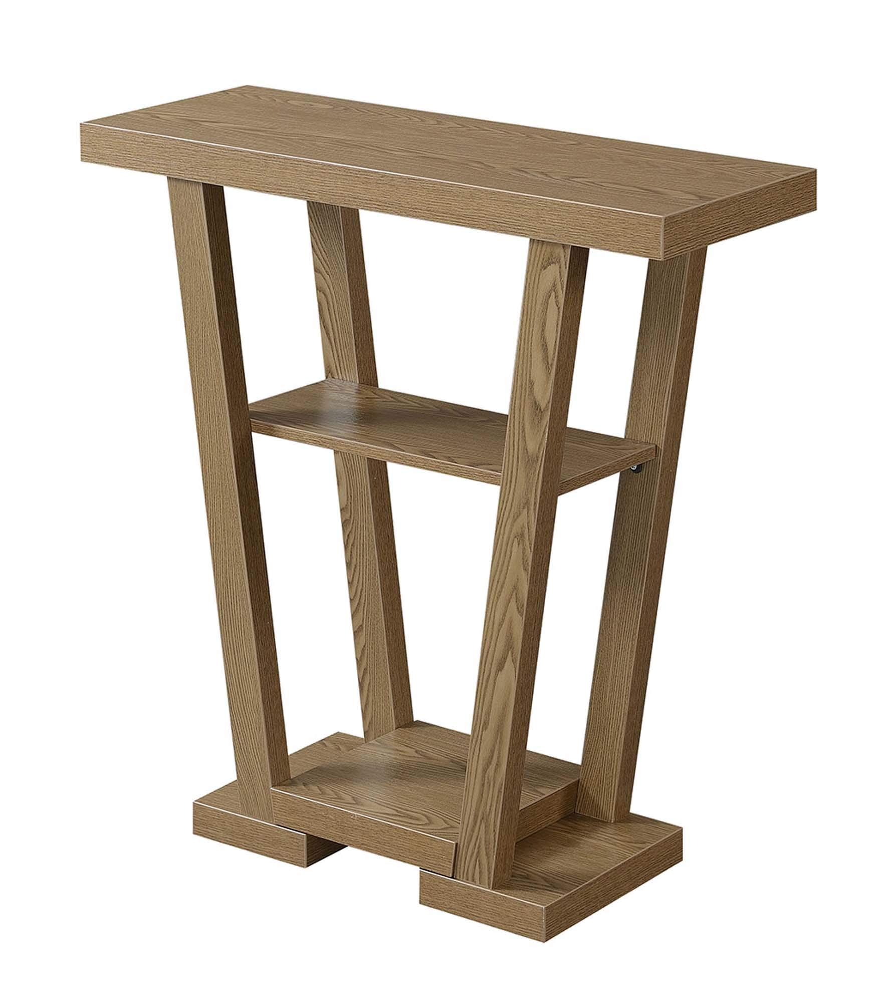 Convenience Concepts Newport V Console, Driftwood by Convenience Concepts