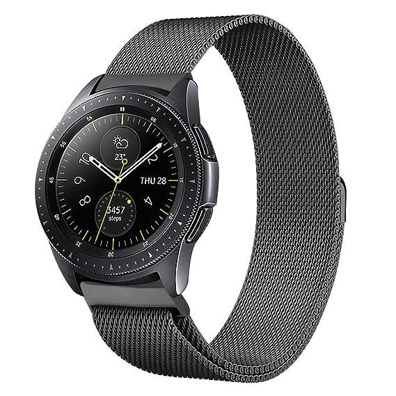 773297945d Shangpule Compatible Samsung Galaxy Watch (42mm) Bands, 20mm Milanese Loop  Stainless Steel Metal