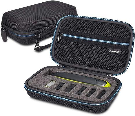 kwmobile Funda compatible con Philips Oneblade QP2530 25331/21 2520 - Con compartimento para cable de carga - Estuche para máquina de afeitar - Negro: Amazon.es: Salud y cuidado personal