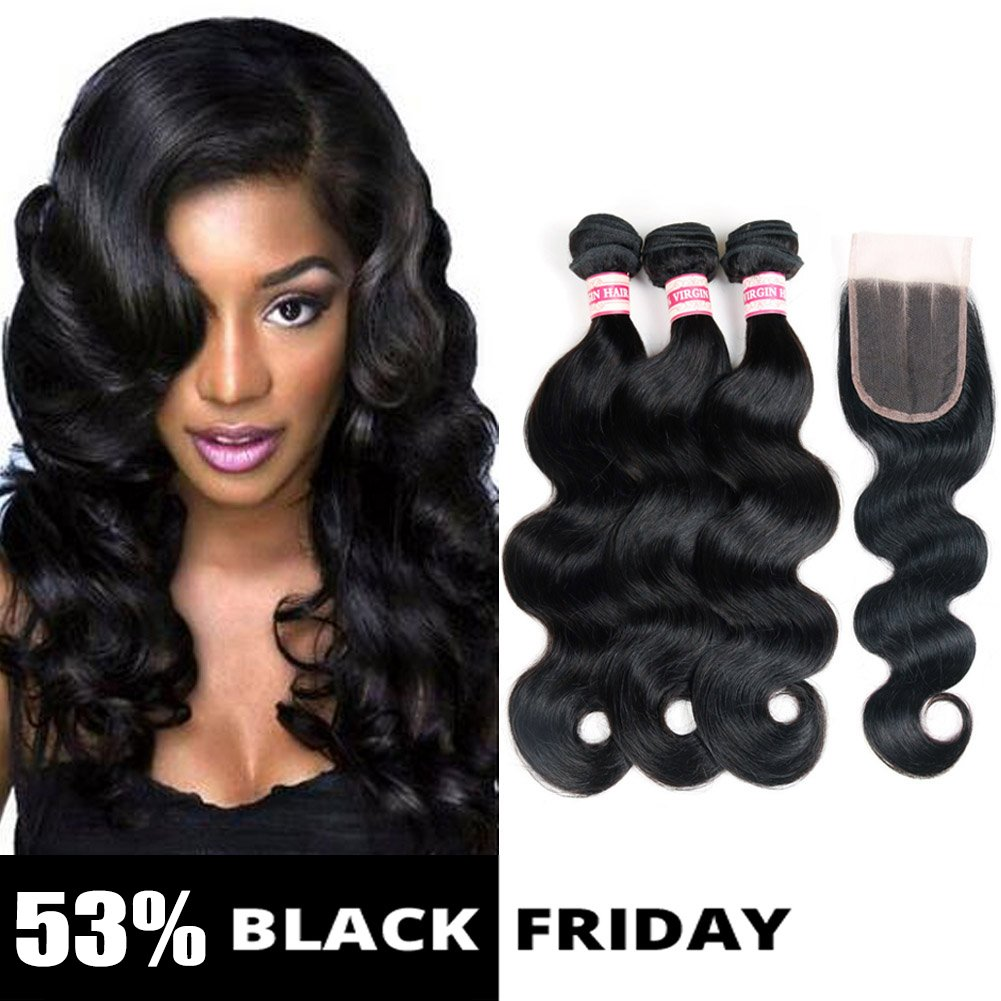 Amazon Fabeauty Body Wave Peruvian Human Hair 3 Bundles With