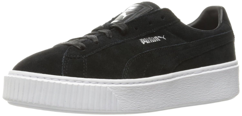 Puma Frauen-Veloursleder-Plattform-Schuhe  38.5 EU Puma Black/Puma Black/Puma White