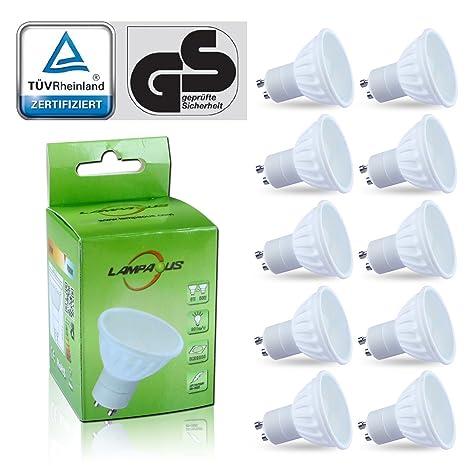 Lampaous 10 X 5w LED GU10 Bombillas de bajo consumo, Lámpara LED Luz GU10 color