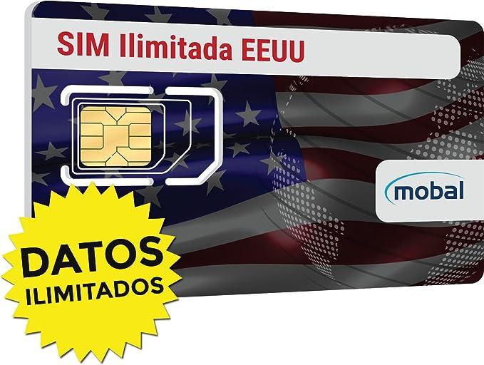 EEUU ilimitado tarjeta SIM de Mobal. Ilimitado de datos y ...