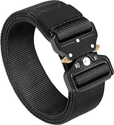 Ratchet Style Quick Release for MTB Shorts and Bike to Work Commuter Pants Tactical Nylon Belt