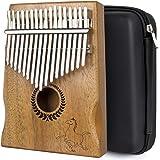 lotmusic Kalimba Thumb Piano 17 keys Portable Mbira Finger Piano With Mahogany Wood And Tune Hammer Gifts For Adult Kids…