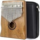 Kalimba Thumb Piano 17 keys Portable Mbira Finger Piano With Mahogany Wood And Tune Hammer Gifts For Adult Kids And…