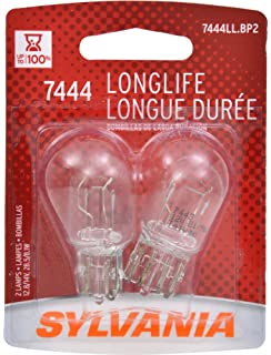 Sylvania 7444LL Long Life Brake Light Bulbs (Pair)