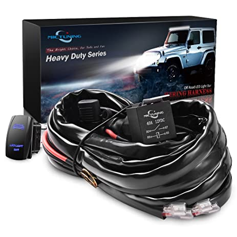 71cs56XoFVL._SY463_ amazon com mictuning hd 12 gauge 600w led light bar wiring light bar wiring harness from amazon at webbmarketing.co