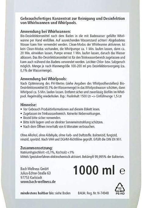 Bach Bio Whirl Desinfektionsmittel 1000ml Speziell Fur