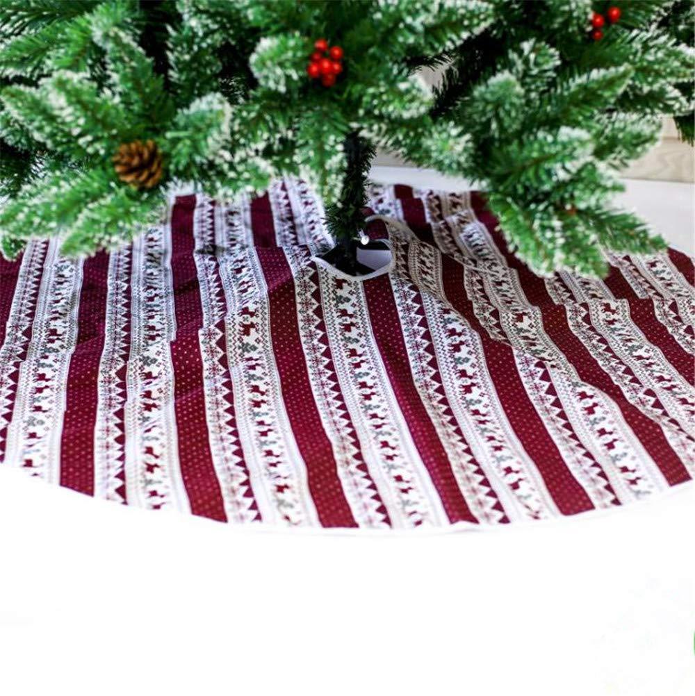 AITELEI 47'' Christmas Tree Skirt Printed Xmas Skirt Mat for Christmas Holiday Party Decoration Christmas Ornament