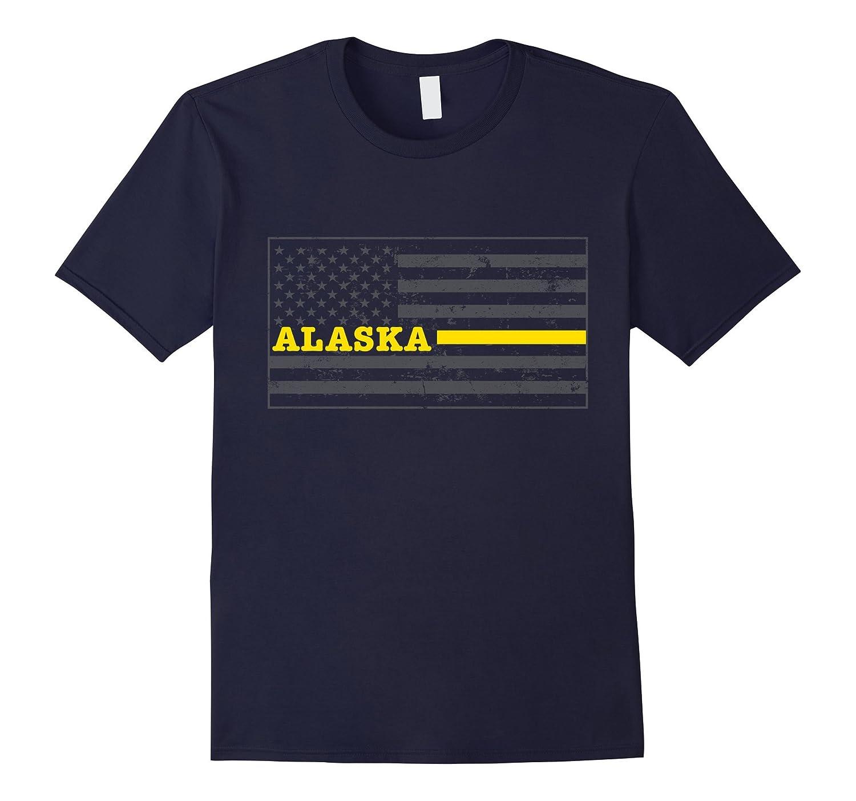 Alaska Tow Truck Driver Shirt Thin Yellow Line Shirt-CD