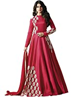 Misha Fashion New Partywear Red Anarkali Gown