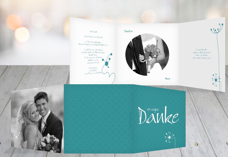 Kartenparadies Danksagung für Hochzeitsgeschenke Hochzeit Dankeskarte abstrakte Blaumen, hochwertige Danksagungskarte Hochzeitsglückwünsche inklusive Umschläge   20 Karten - (Format  145x145 mm) Farbe  Sonnengelb B01N6TCGHB | Innovatio