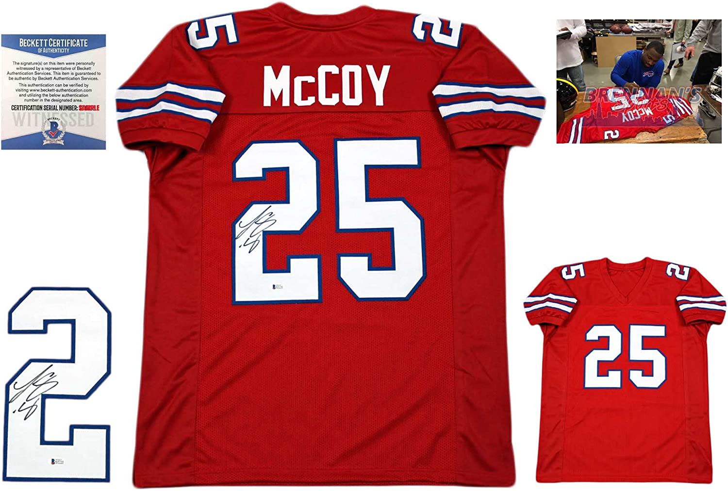 LeSean McCoy Autographed SIGNED Jersey - Beckett Authentic - Red ...