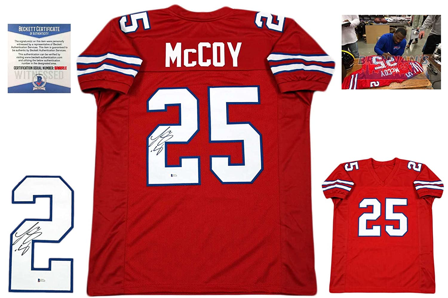 sale retailer 89cf7 f41bc LeSean McCoy Autographed SIGNED Jersey - Beckett Authentic ...