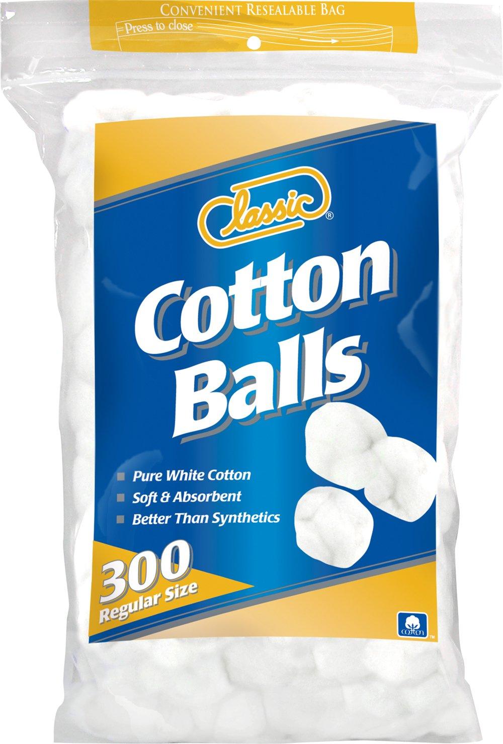 Classic Cotton Balls Regular Size, 300 Count US Cotton NA