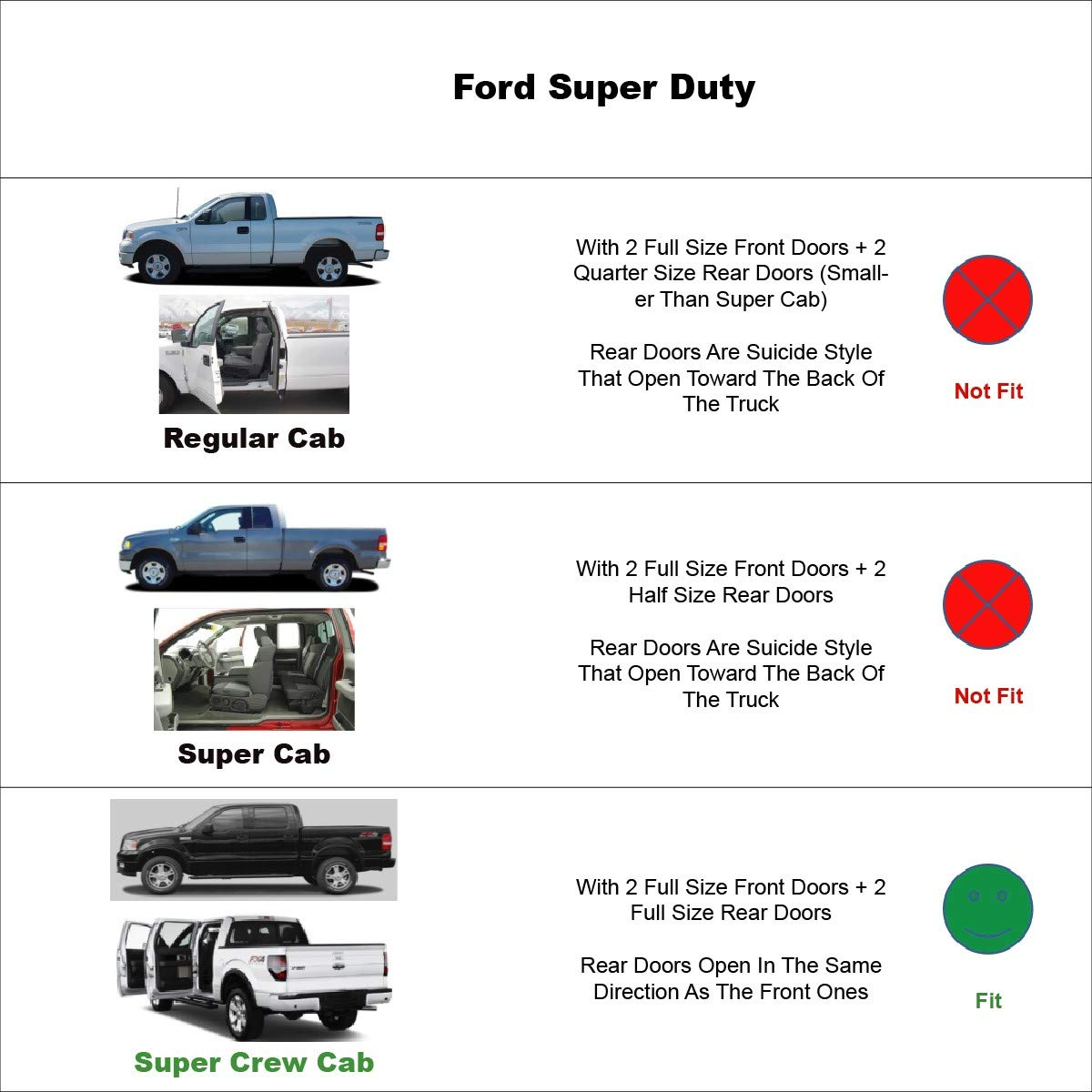 Crew Cab Smoke Sun Wind Rain Guard Vent Shade Reflector Window Visors by JM Crew Cab /& 2017-2019 Ford F-250 F-350 Super Duty SuperCrew 4pcs for 2015-2019 Ford F-150 SuperCrew
