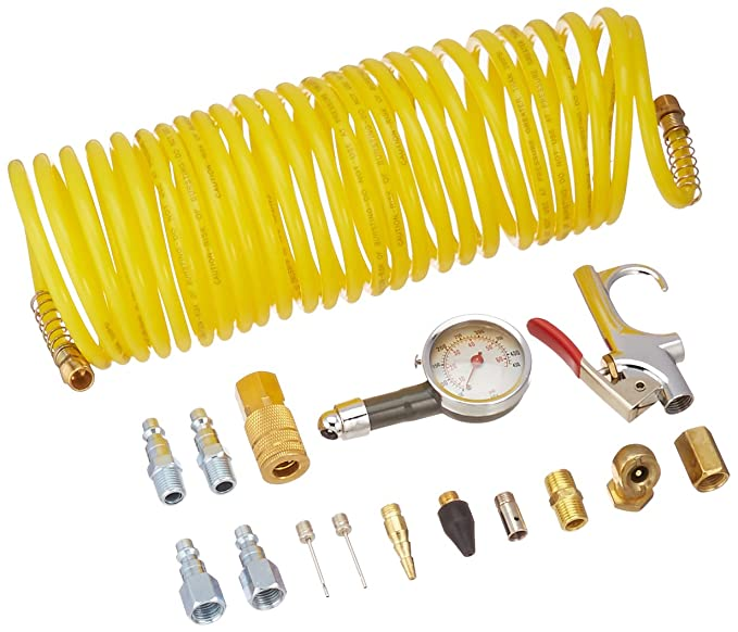 Freeman APWH1414I Industrial Pneumatic Accessory Pack with Hose, 16-Piece - Plumbing Hoses - Amazon.com