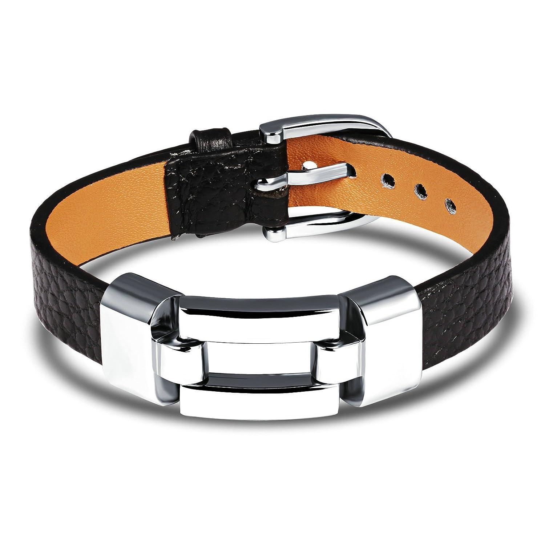 EoCot Gold Plated Bracelet Belt Buckle Bangle Bracelet for Men