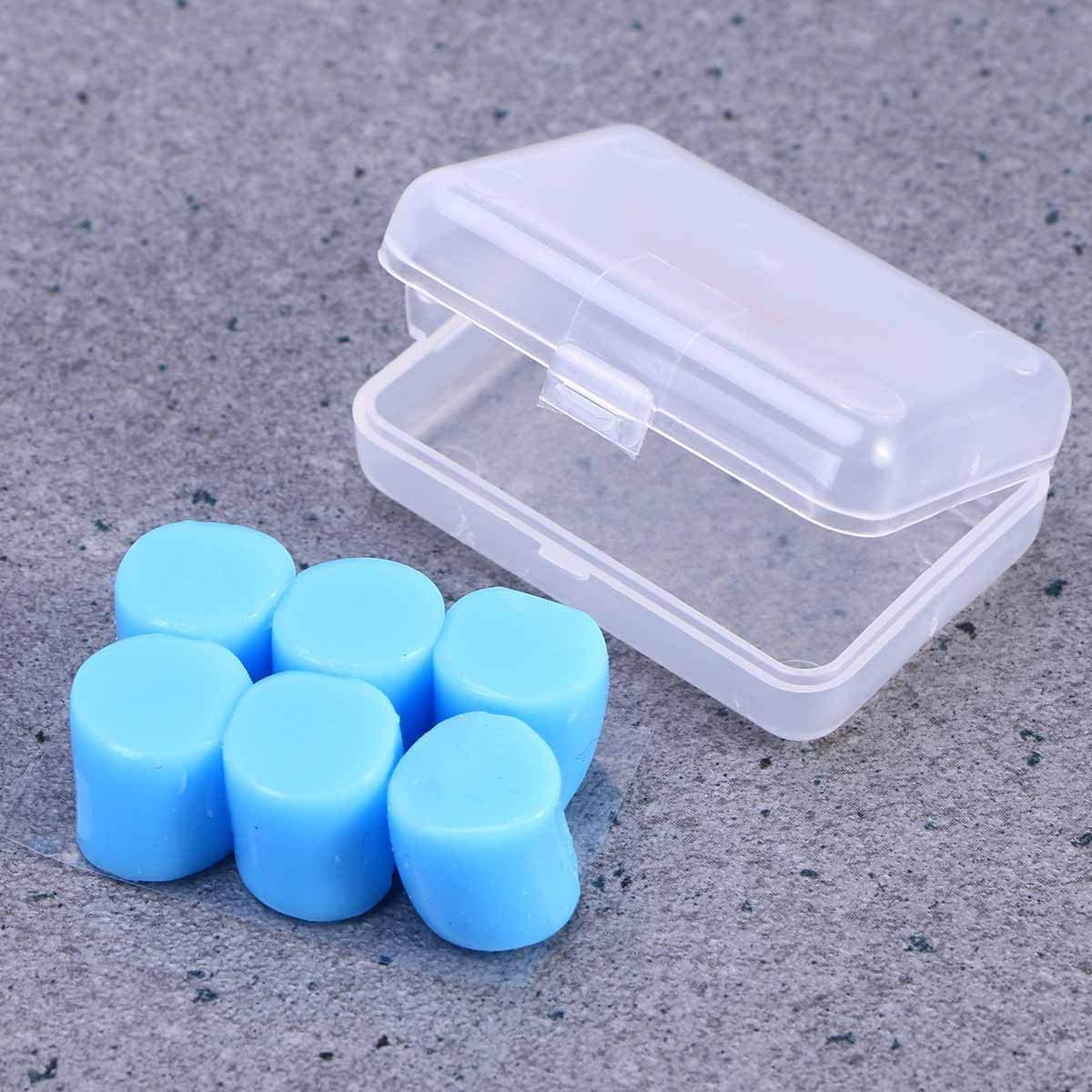 reductor de ruido de sue/ño Healifty tapones para los o/ídos de silicona 9 unidades tapones para los o/ídos de silicona para nataci/ón y ba/ño azul