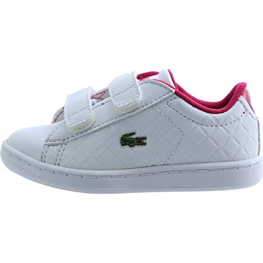 Amazon.com | Lacoste Carnaby Evo 417 1 White/Pink Synthetic 10 M US Infant | Shoes