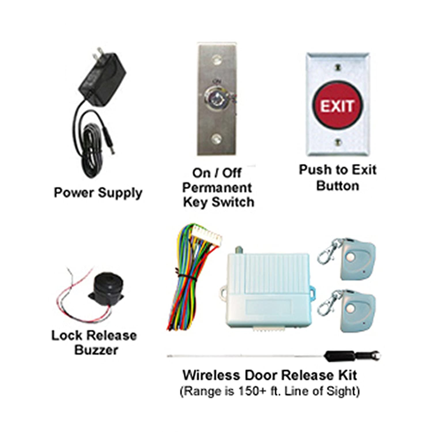 amazon com complete wireless entry pawn shop magnetic lock kit