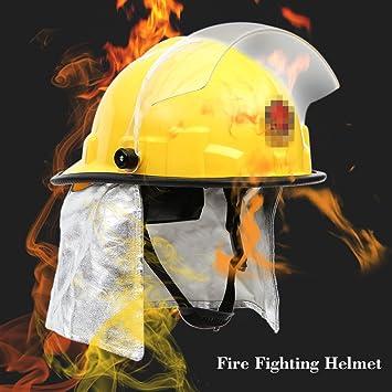 KKmoon Casco de seguridad para Frie; Fuego cabeza protección; Prueba bombero casco de seguridad