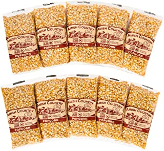 product image for Amish Country Popcorn | 10 (4 Oz Bags) Ladyfinger Popcorn | Old Fashioned with Recipe Guide