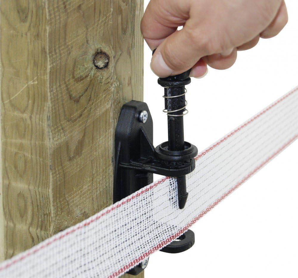 Kerbl 10 St/ück Premium Bandspanner Kunststoff f/ür Breitb/änder bis 40 mm zum Anschrauben