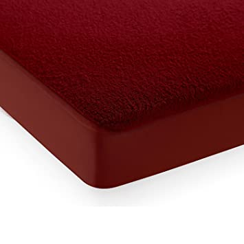 Story@Home Water Resistant 1 Cotton 78 X 72 Inch Mattress (s) Guard Protectors! - King, Maroon