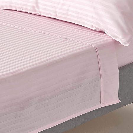 Homescapes 100% algodón egipcio satinada sábana de color rosa violeta 330 hilos percal anti polvo y ácaros, algodón, Morado, matrimonio: Amazon.es: Hogar