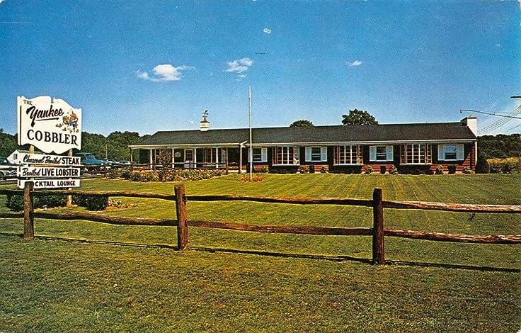 Old Saybrook Connecticut Yankee Cobbler Street View Vintage Postcard ...
