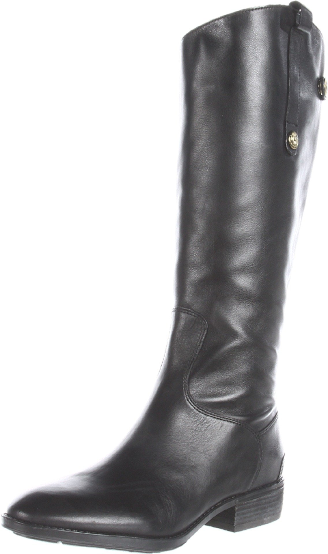 Sam Edelman Women's Penny Riding Boot, Black Leather, 9.5 M US