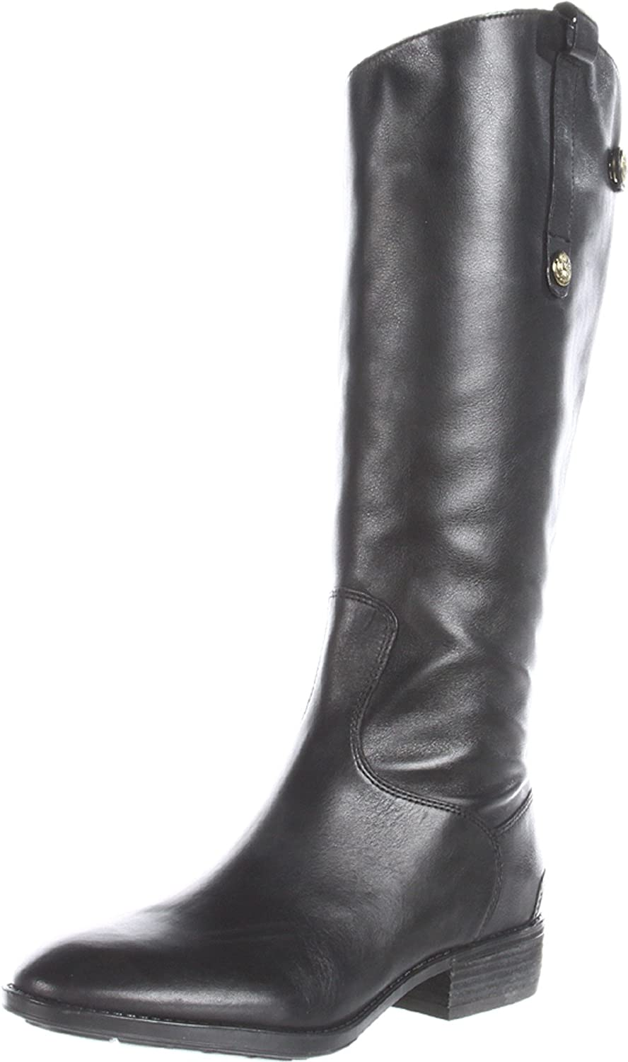Sam Edelman Women's Penny Riding Boot B007FNCA1C 5 B(M) US|Black Leather