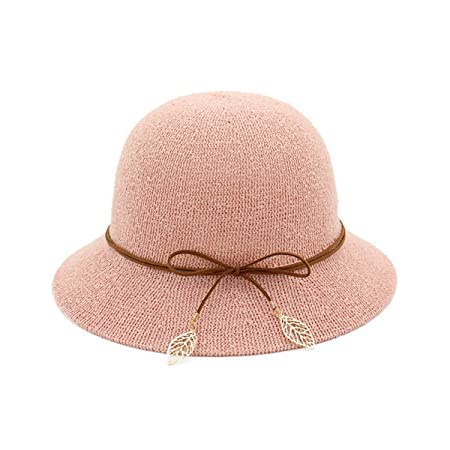 cd911b362d6 Four Seasons Ladies Fisherman Hats Dome Small Hat Outdoor Travel Cap (Color    Pink