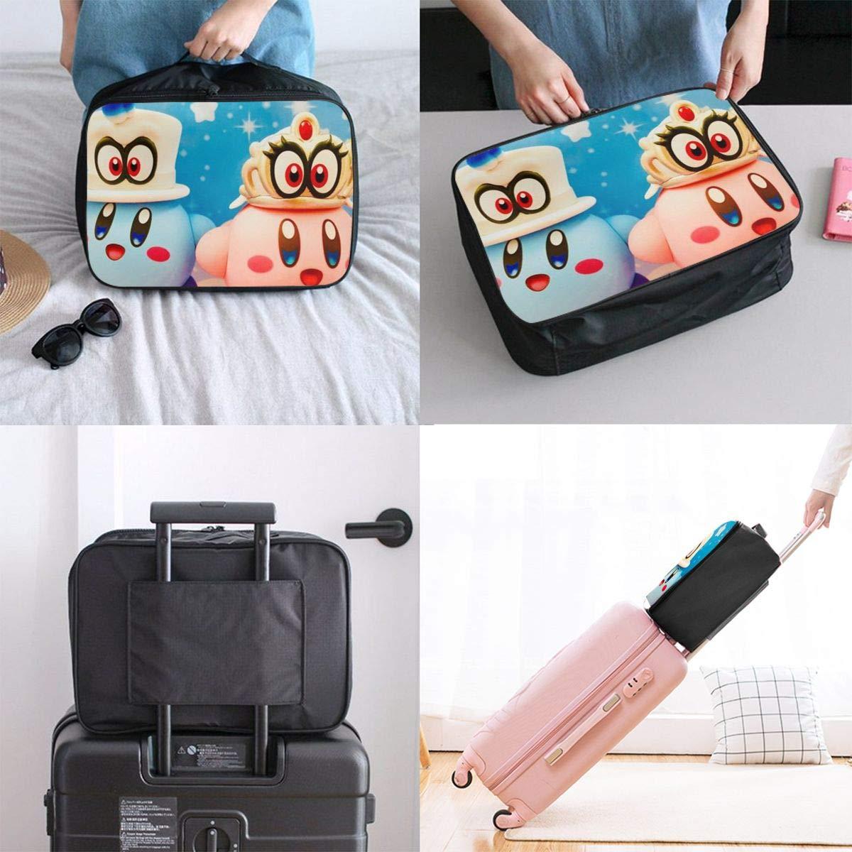 BOKAIKAI1306 Abstract K-Kirby Unisex Adult Fashion Lightweight Large Capacity Portable Large Travel Duffel Bag Mens Womens Luggage Bag 3D Printing DIY Boarding Box