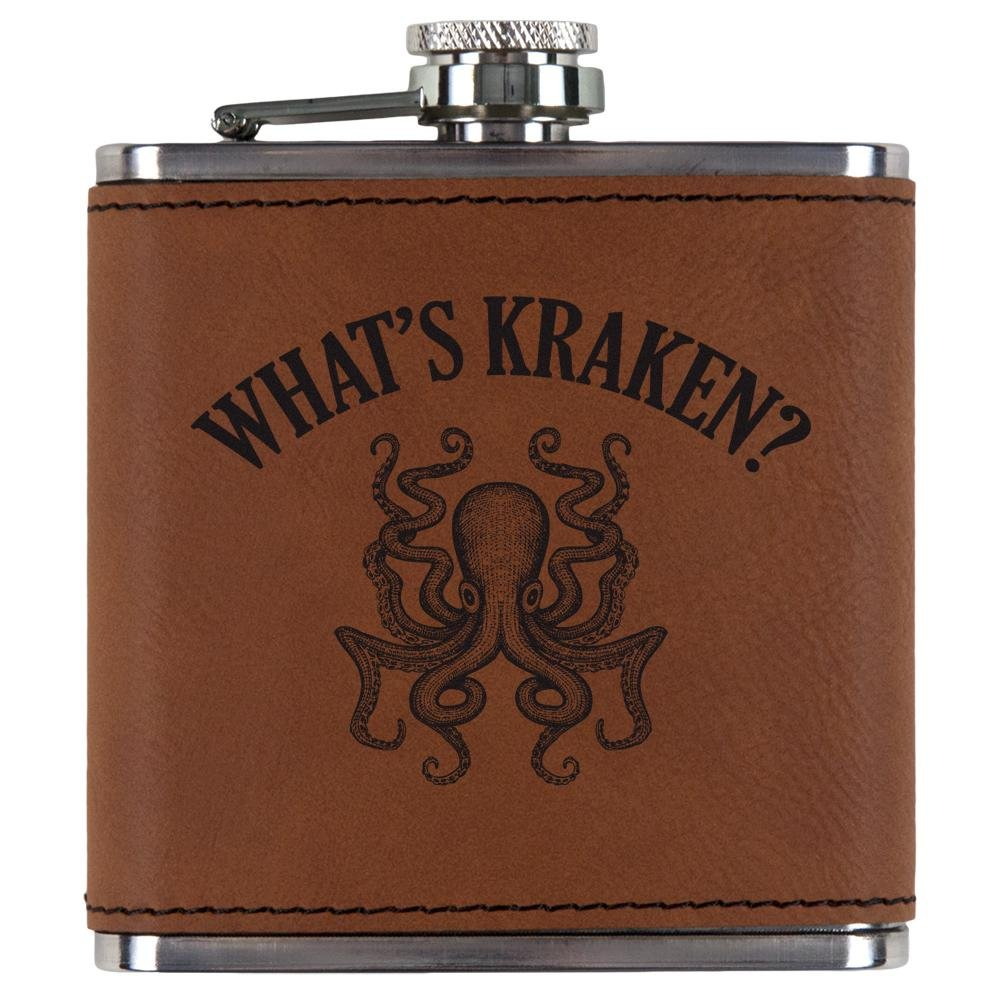 予約販売 Old Glory What 's Kraken Etched Octopus Squid Etched 's Leatheretteフラスコ Leatheretteフラスコ OneSize OneSize ローハイド( Rawhide) B07D62CWZL, 35歳からのパール 松本宝飾:43865266 --- a0267596.xsph.ru