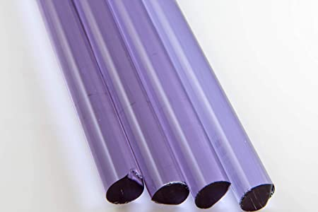 1 lb COE 33 Transparent Purple 16mm Borosilicate Solid Rods Devardi Glass 16mm Thick Boro Rods