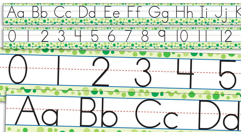 Scholastic Teacher's Friend Standard Manuscript Alphabet and Numbers 0-30 Bulletin Board (TF8032)