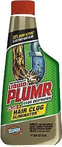 Liquid-Plumr Hair Clog Eliminator, Liquid Drain Cleaner - 16 Ounces