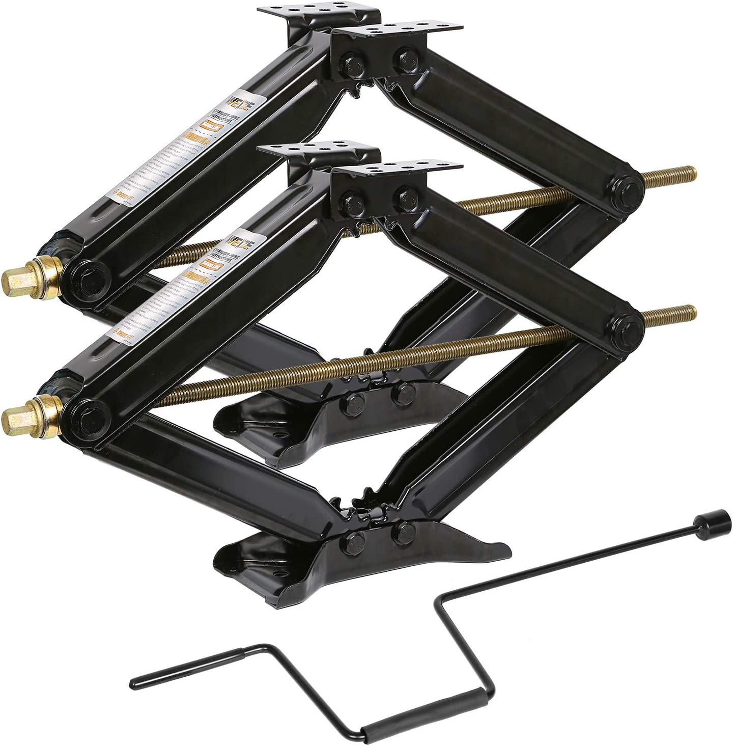 Weize Camper RV Trailer Stabilizer Leveling Scissor Jacks