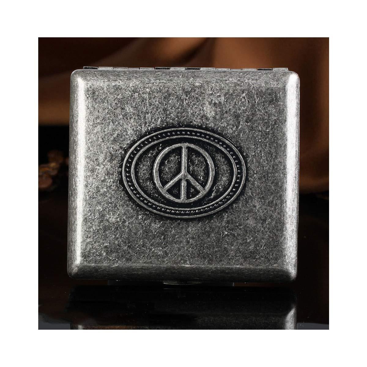 KALMAR Retro Creative Automatic Portable Cigarette Case, 20 Sticks, Men's Personalized Cigarette Case Cigarette Box Cigar Protective Cover (Style : D)