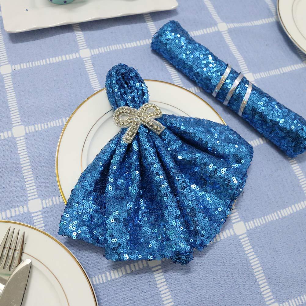 TRLYC Wedding Sequin Napkins- Turquoise-20x20-Inch Sequins Napkins,30 Pieces