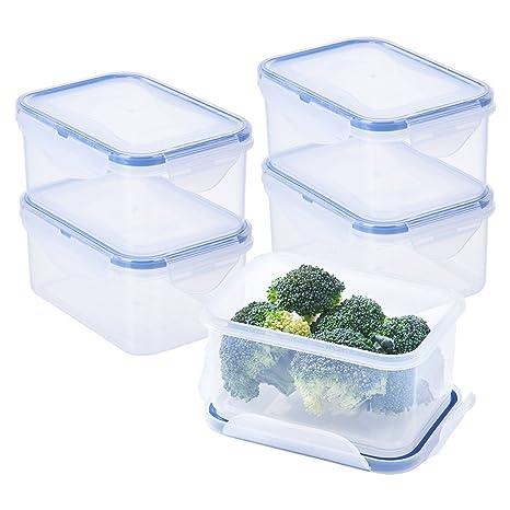 Amazon.com: [4 unidades] contenedor hermético de ...
