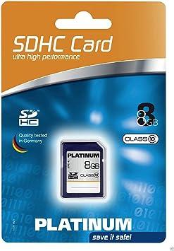 Platinum Class 10 SDHC Secure Digital - Tarjeta de Memoria SecureDigital de 8 GB, Azul